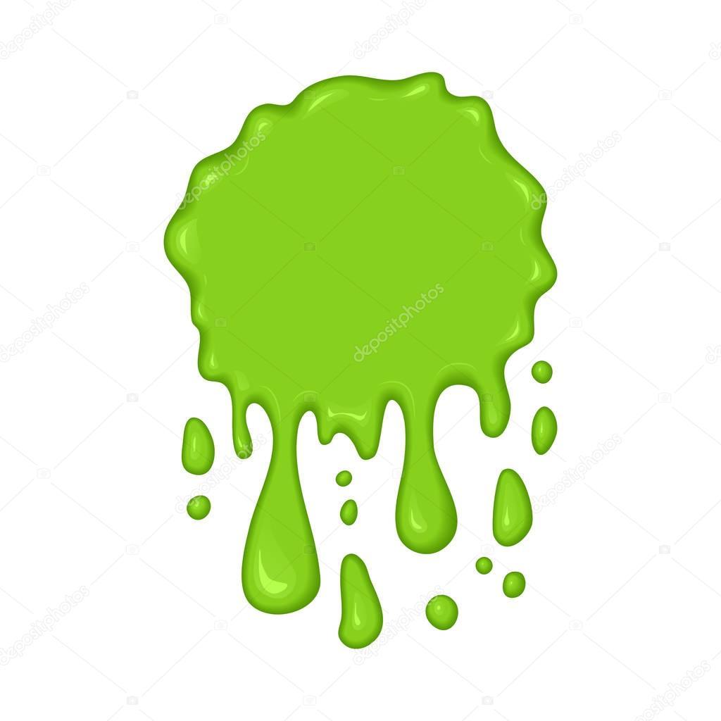 Vector illustration - green slime drips.
