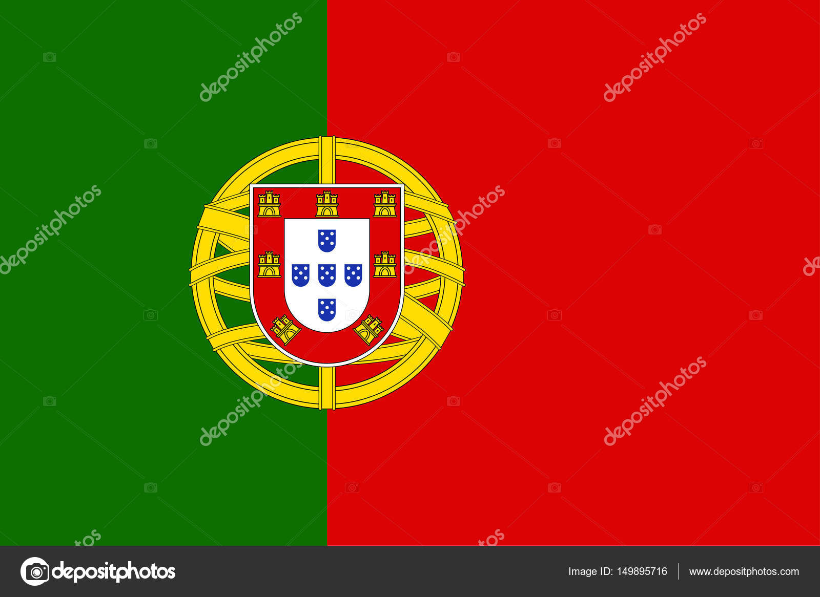 National flag of Portugal country. — Stock Vector © nastya-mal #149895716