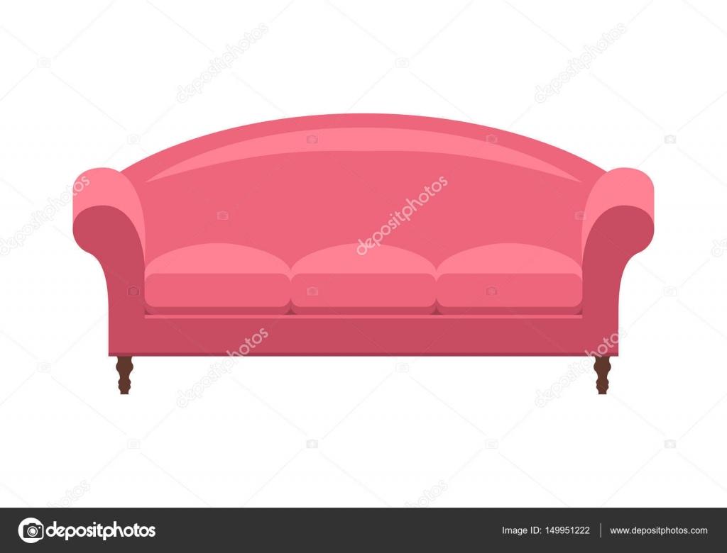 Lieblich GroBartig Rosa Vintage Sofa. Ikone Der Mode, Eleganz Und Gemütliche Möbel  Für Ein Haus