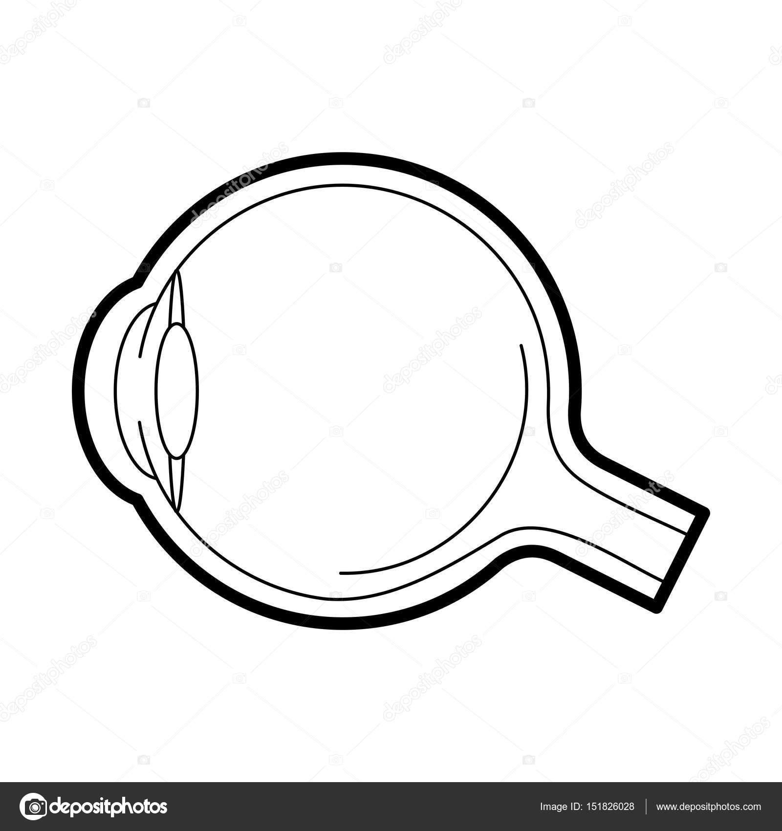 Globo ocular icono anatomía, ilustración vectorial — Archivo ...