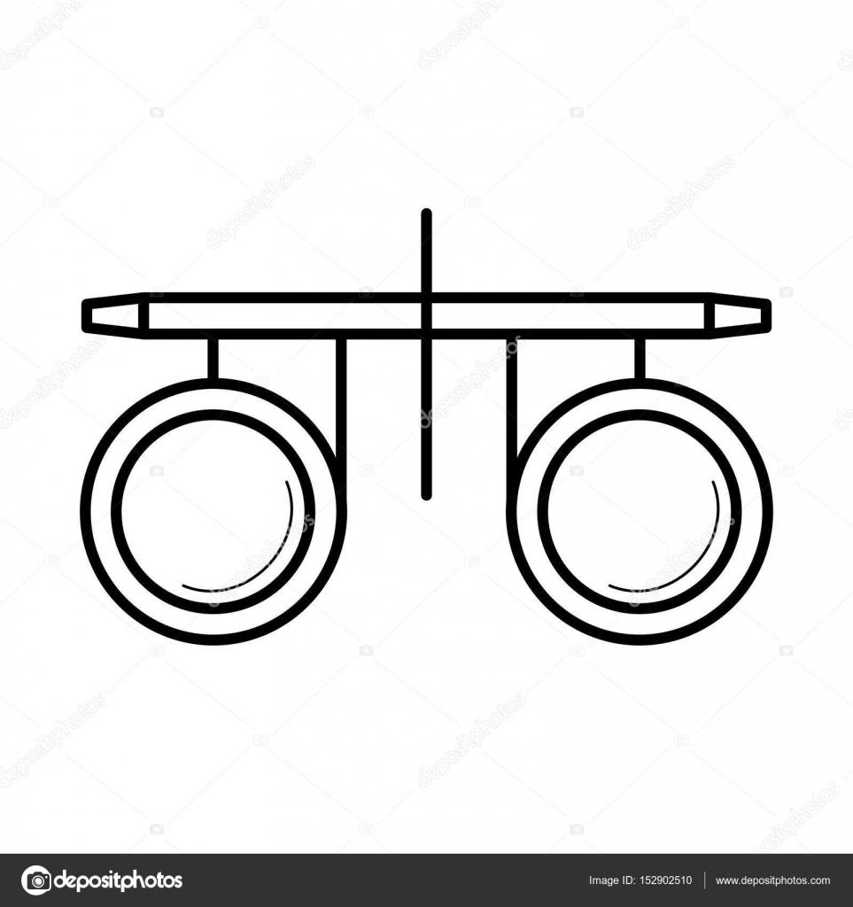 0f5f452fff Icône de vision test optométriste lunettes, illustration vectorielle–  illustration de stock
