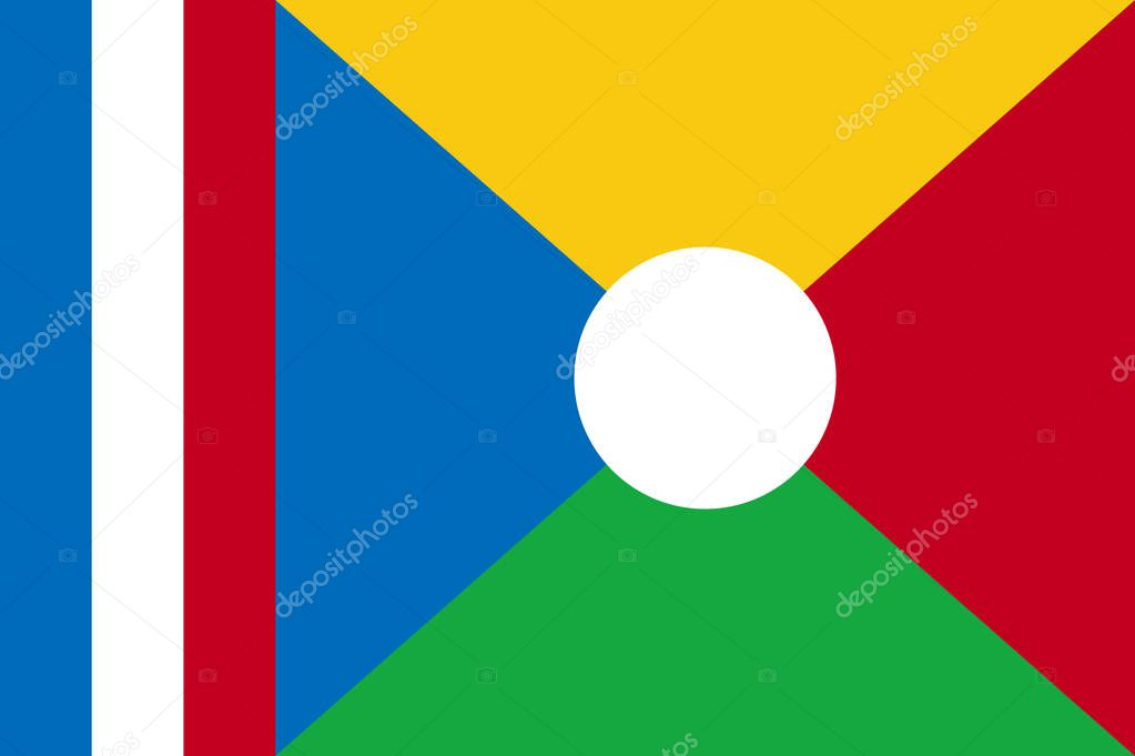 National flag of La Reunion.