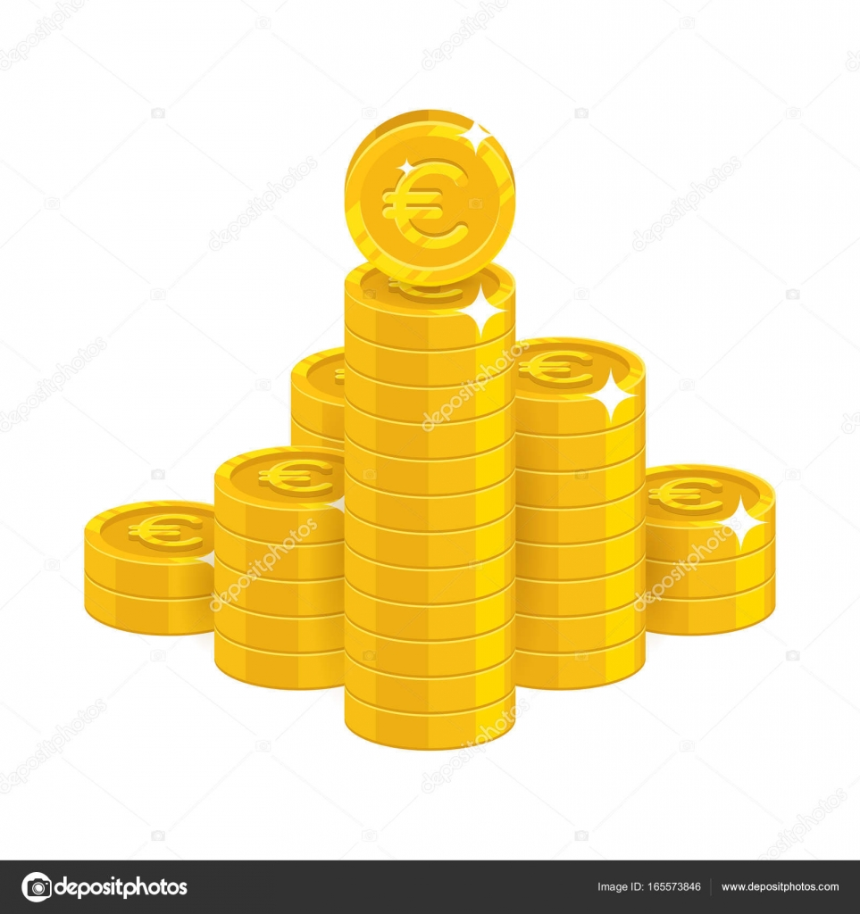 Mountain Gold Euro Isolated Cartoon Icon Stock Vector C Nastya Mal