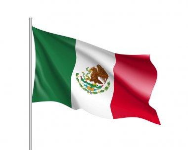 Waving flag of Mexico