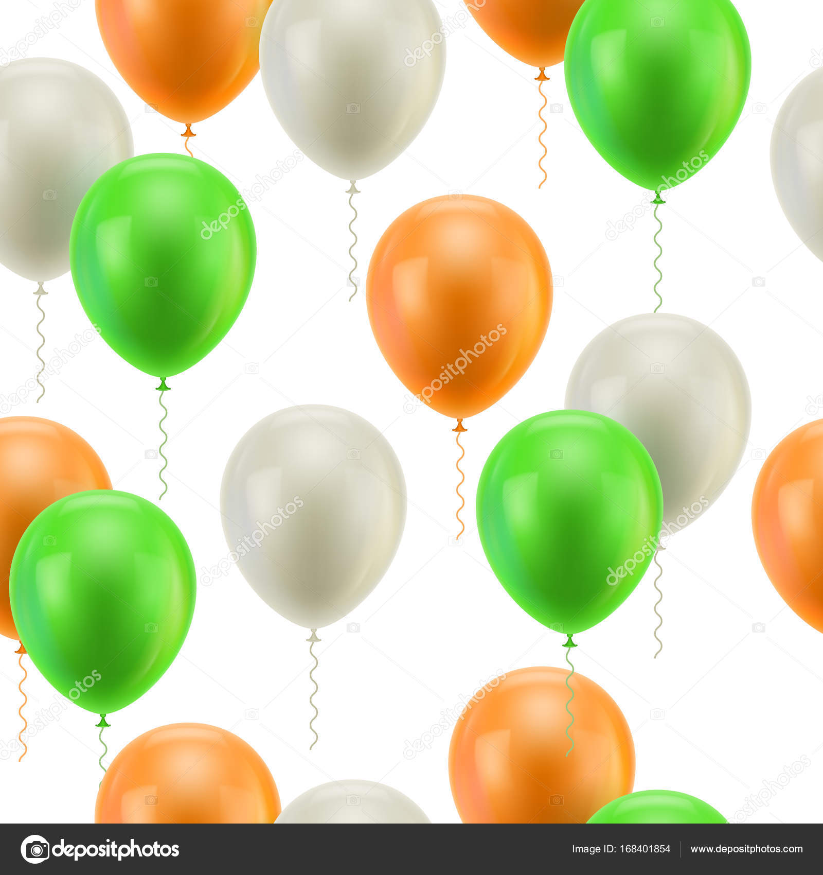 colored balloons white background seamless stock vector nastya