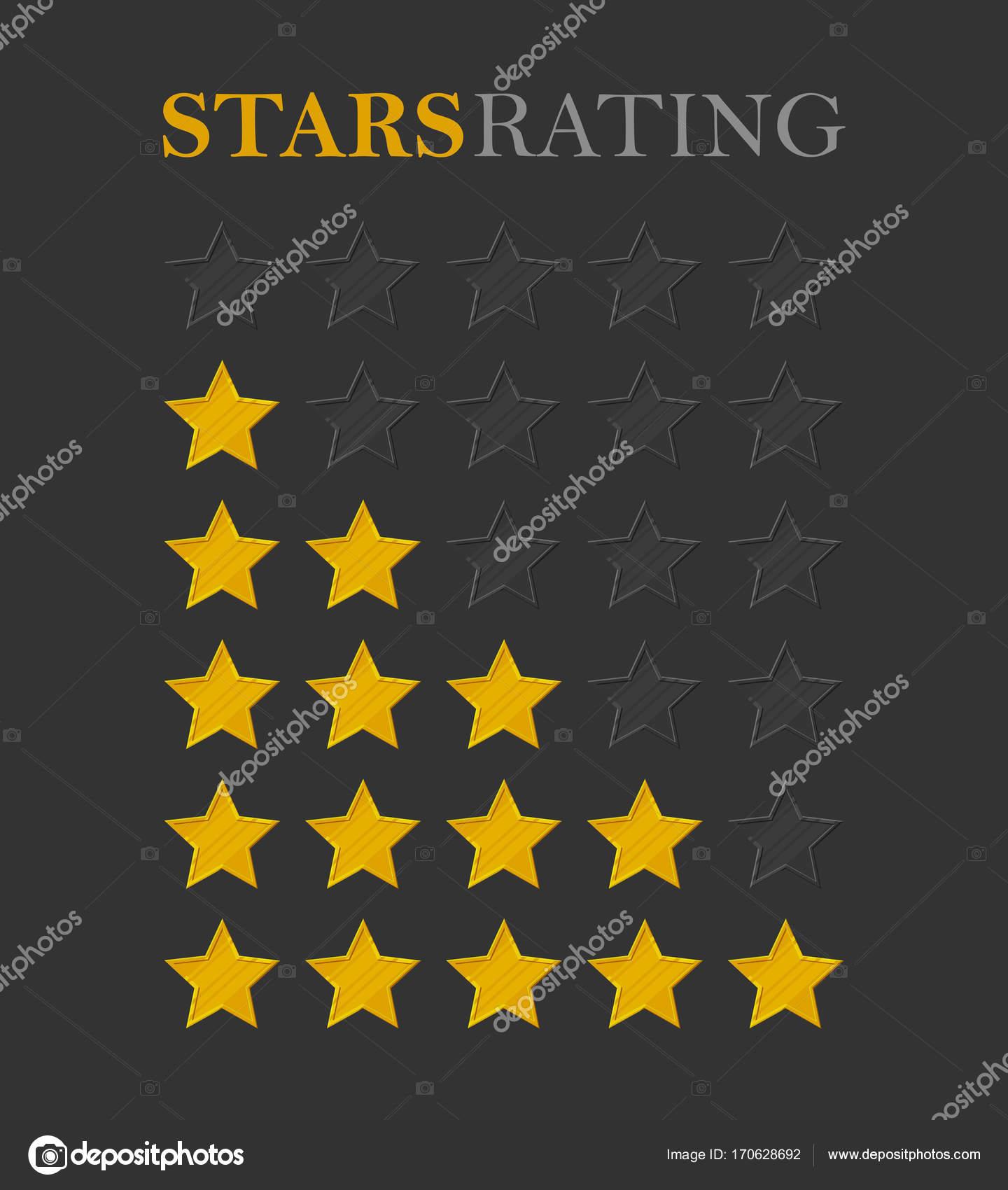 Rating Star Golden Stock Vector Nastya Mal 170628692
