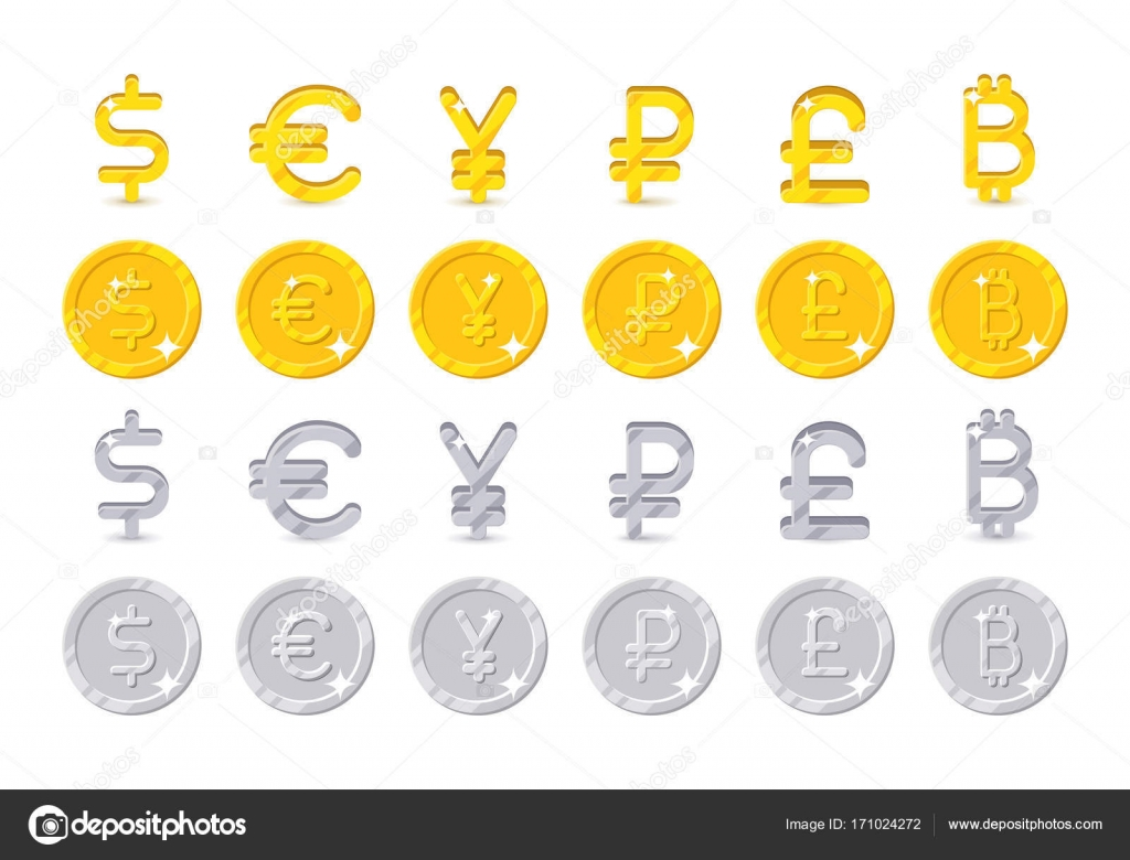 World Currency Signs And Coins Stock Vector Nastya Mal 171024272