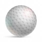 Realistický texturovaný bílý golfový míček