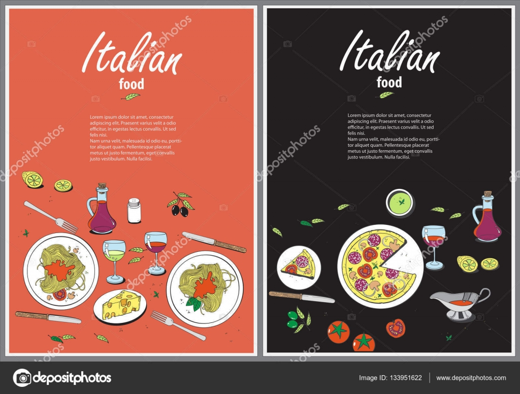 Vector Cooking Banner Template With Hand Drawn Objects On Italia Stock Vector C Ty4ina 133951622