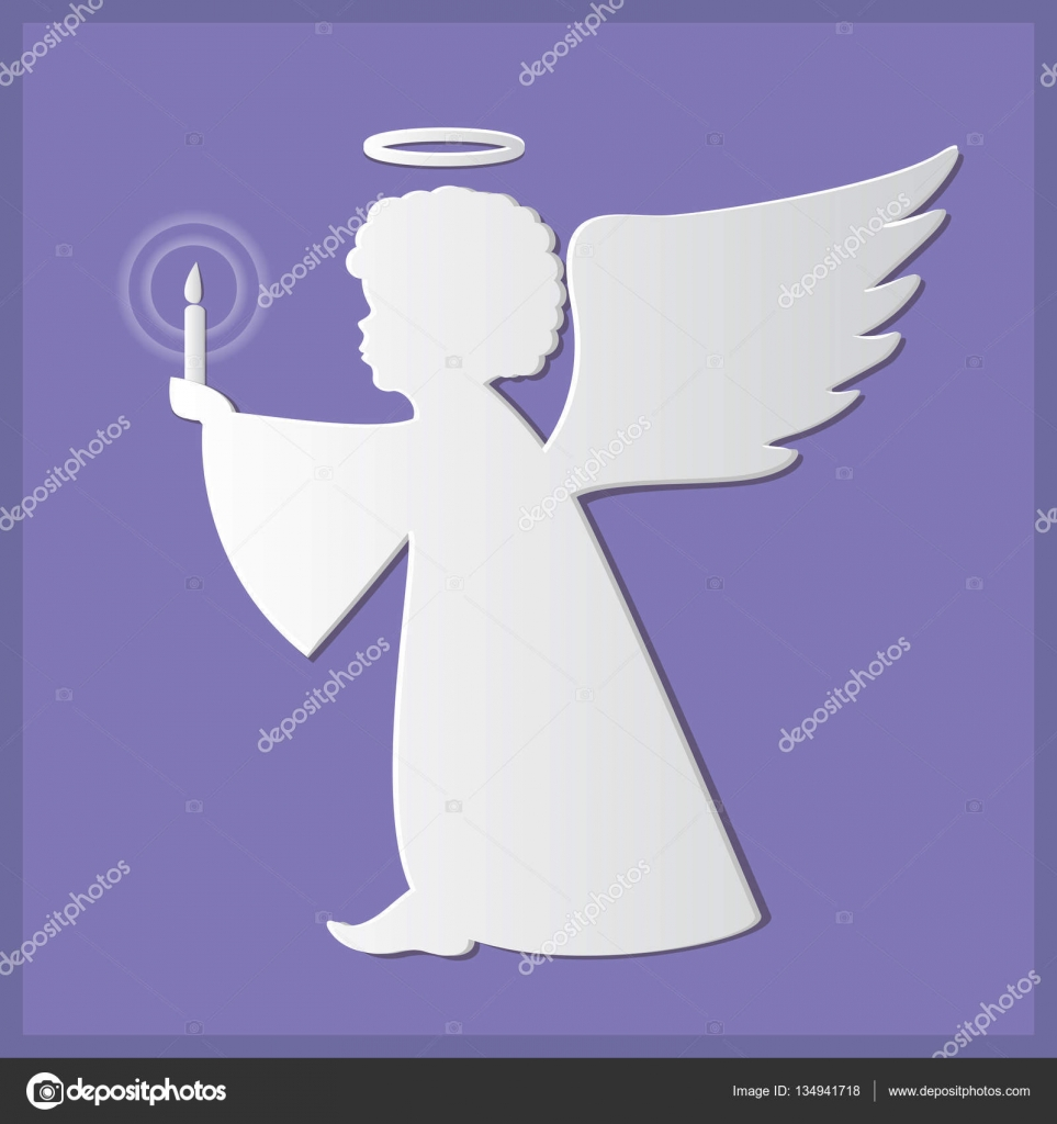 Silhouettes of angels paper art and craft style stock vector silhouettes of angels paper art and craft style stock vector jeuxipadfo Images