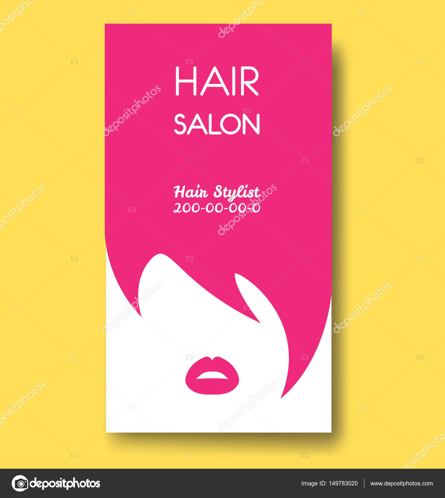 Hair salon business card templates with pink hair and pink lips hair salon business card templates with pink hair and pink lips stock vector wajeb