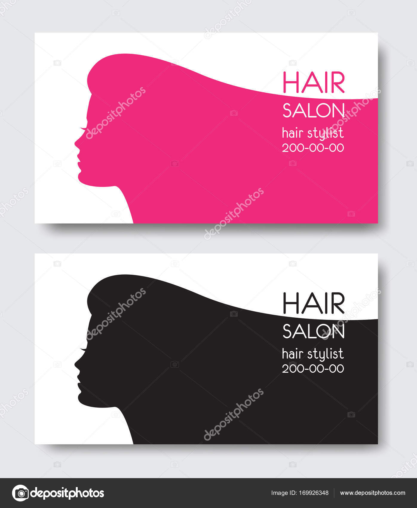 Hair salon business card templates with beautiful woman face sil hair salon business card templates with beautiful woman face sil stock vector fbccfo