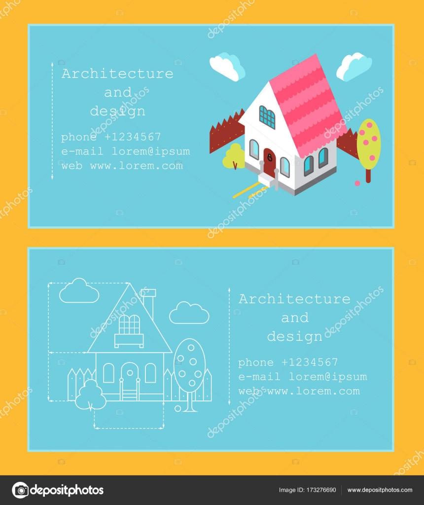 Visitenkarten Vorlage Für Bauunternehmen Und Architekten