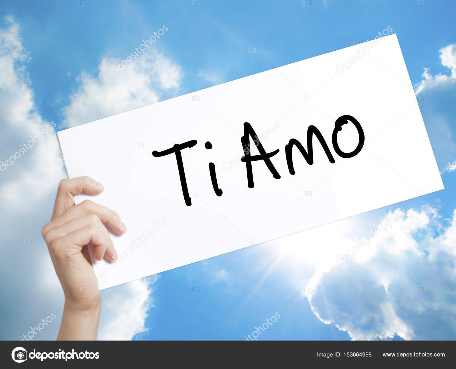 Segno Ti Amo I Love è In Italiano Su Carta Bianca Man Mano Hol