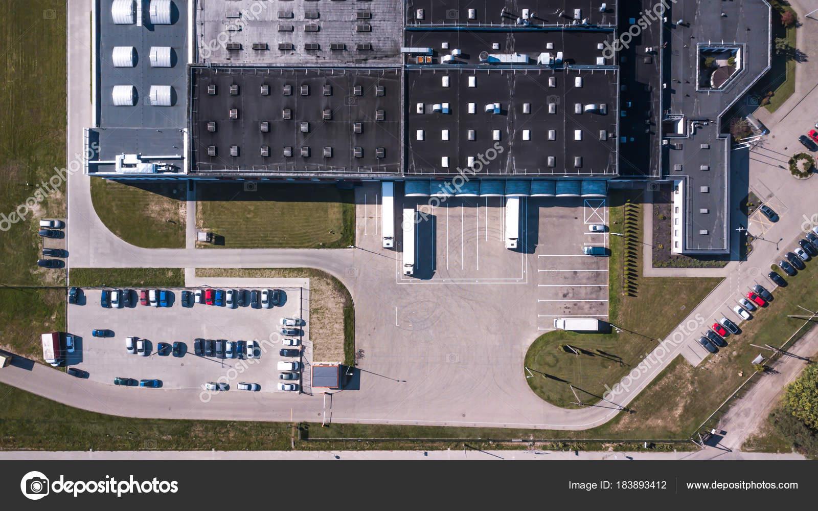 Fotos Almacenes Logisticos Vista Aérea De Almacén De Mercancías