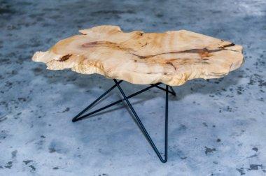 table made of natural wood loft design