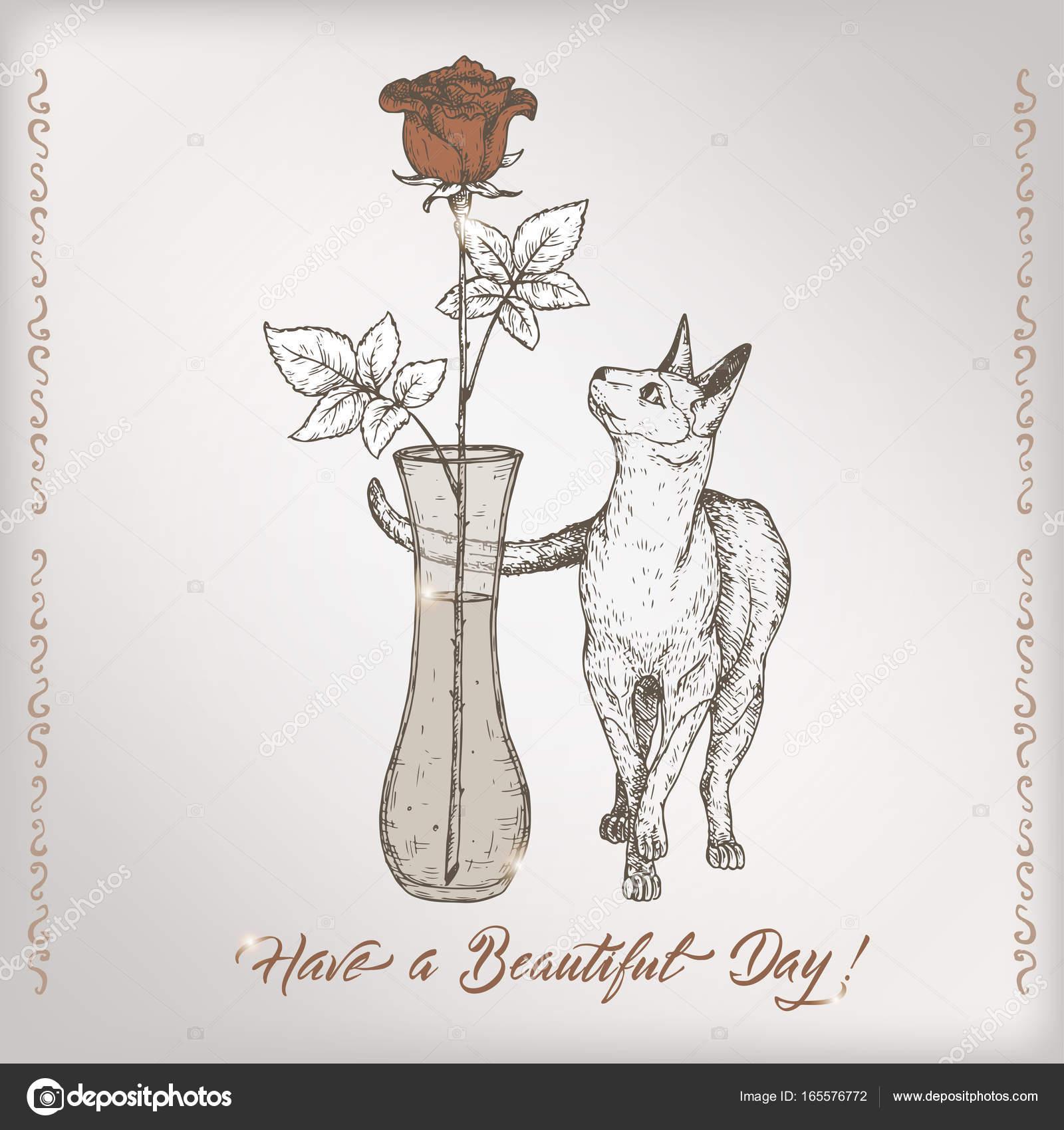 Plantilla de tarjeta de cumpleaños vintage romántica con caligrafía ...