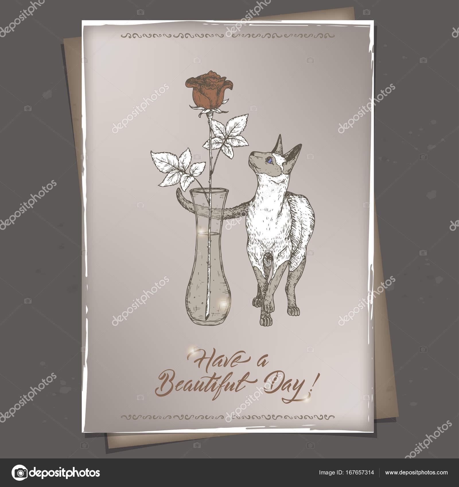 Plantilla de tarjeta de cumpleaños vintage romántica A4 formato con ...