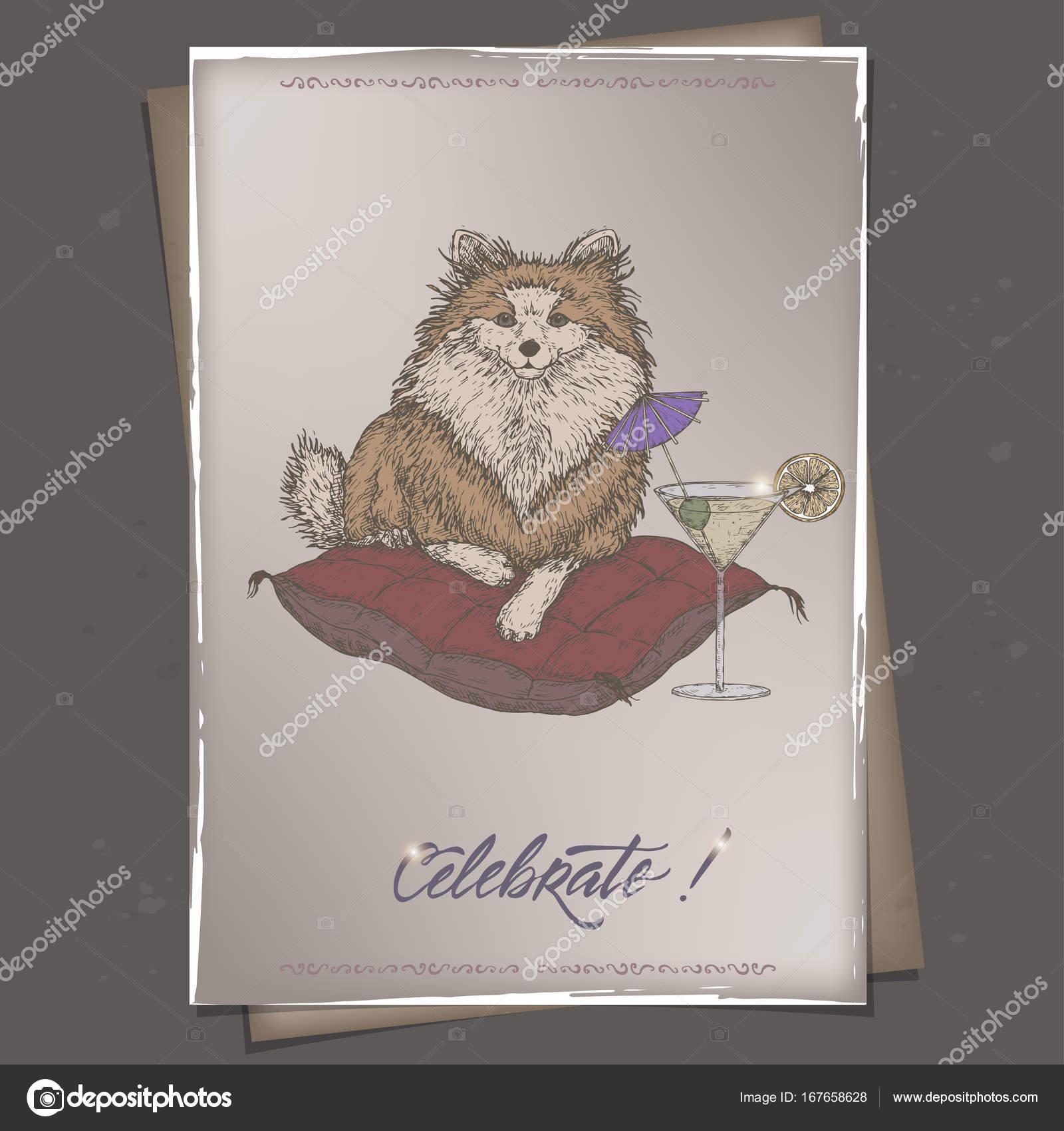 Romantische Vintage Farbe A4 Geburtstag Kartenvorlage mit ...