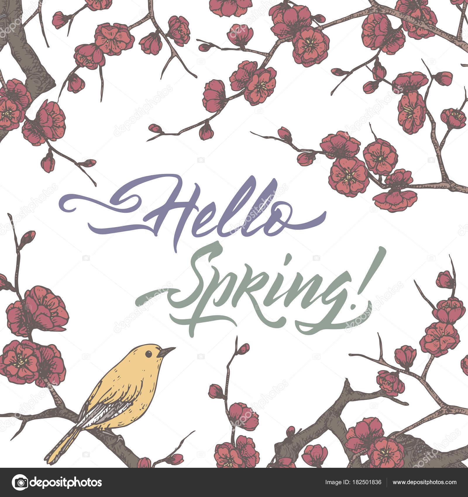 Romantische Vintage Farbe Vorlage mit Feder Bürste Kalligraphie und ...
