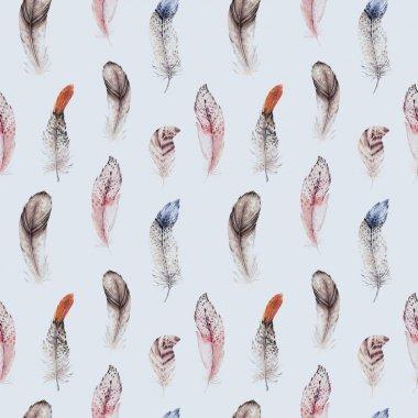 feathers boho pattern