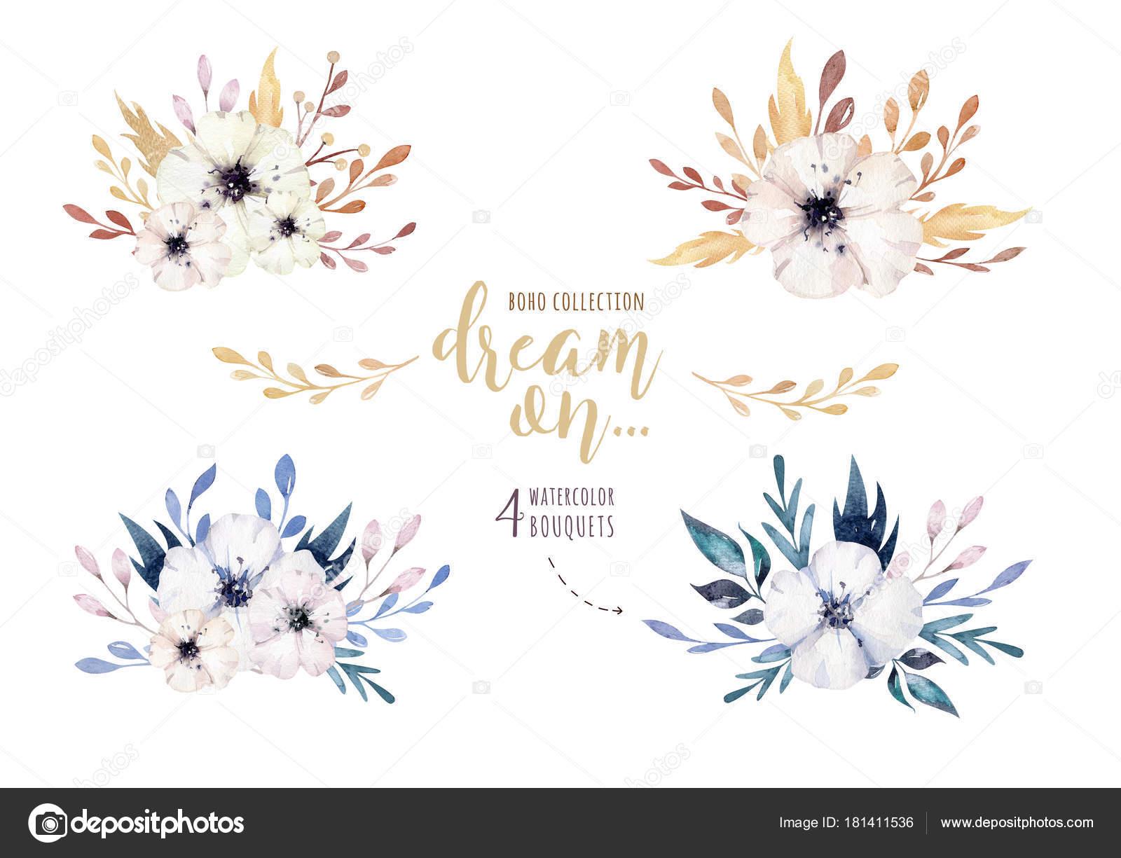 Imágenes Flores Vintage Con Frases Flores Acuarela