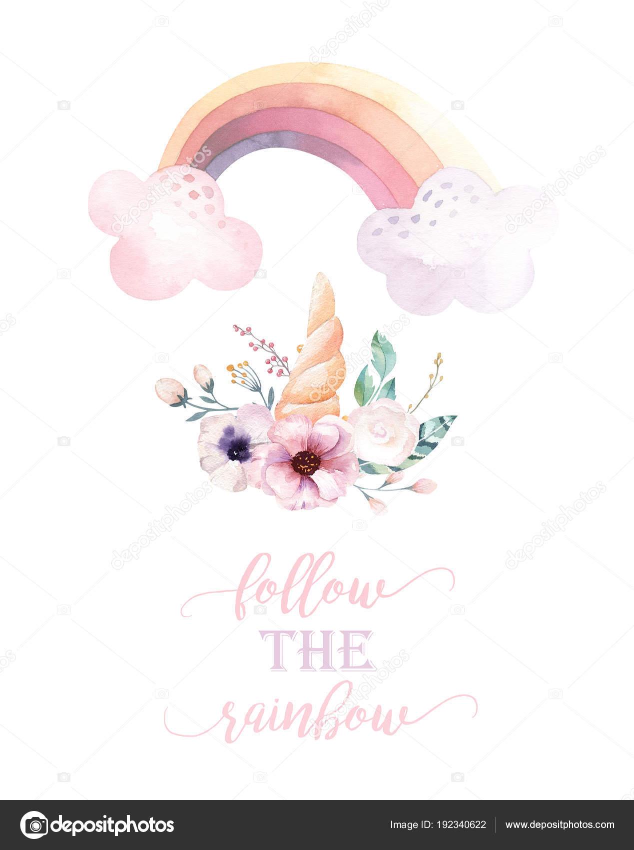 regenbogen einhorn clipart  einhorn regenbogen wolke