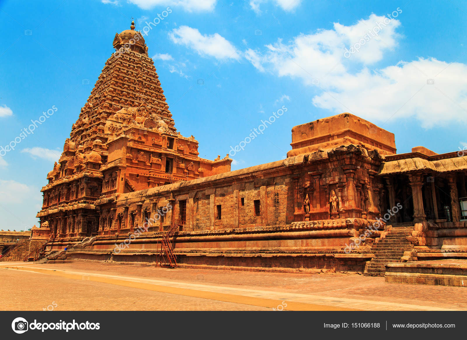 Brihadeeswara Temple De Tanjore Tamil Nadu Inde Photographie