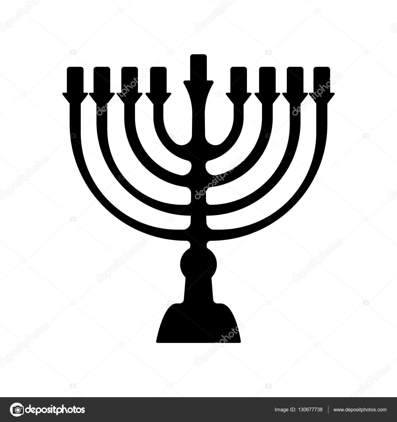 Menorah symbol of judaism illustration isolated on white menorah symbol of judaism illustration isolated on white background stock vector buycottarizona Images