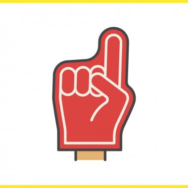 Foam finger color icon