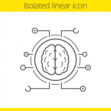 Neural networks linear icon