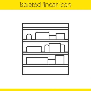 Shop shelves linear icon