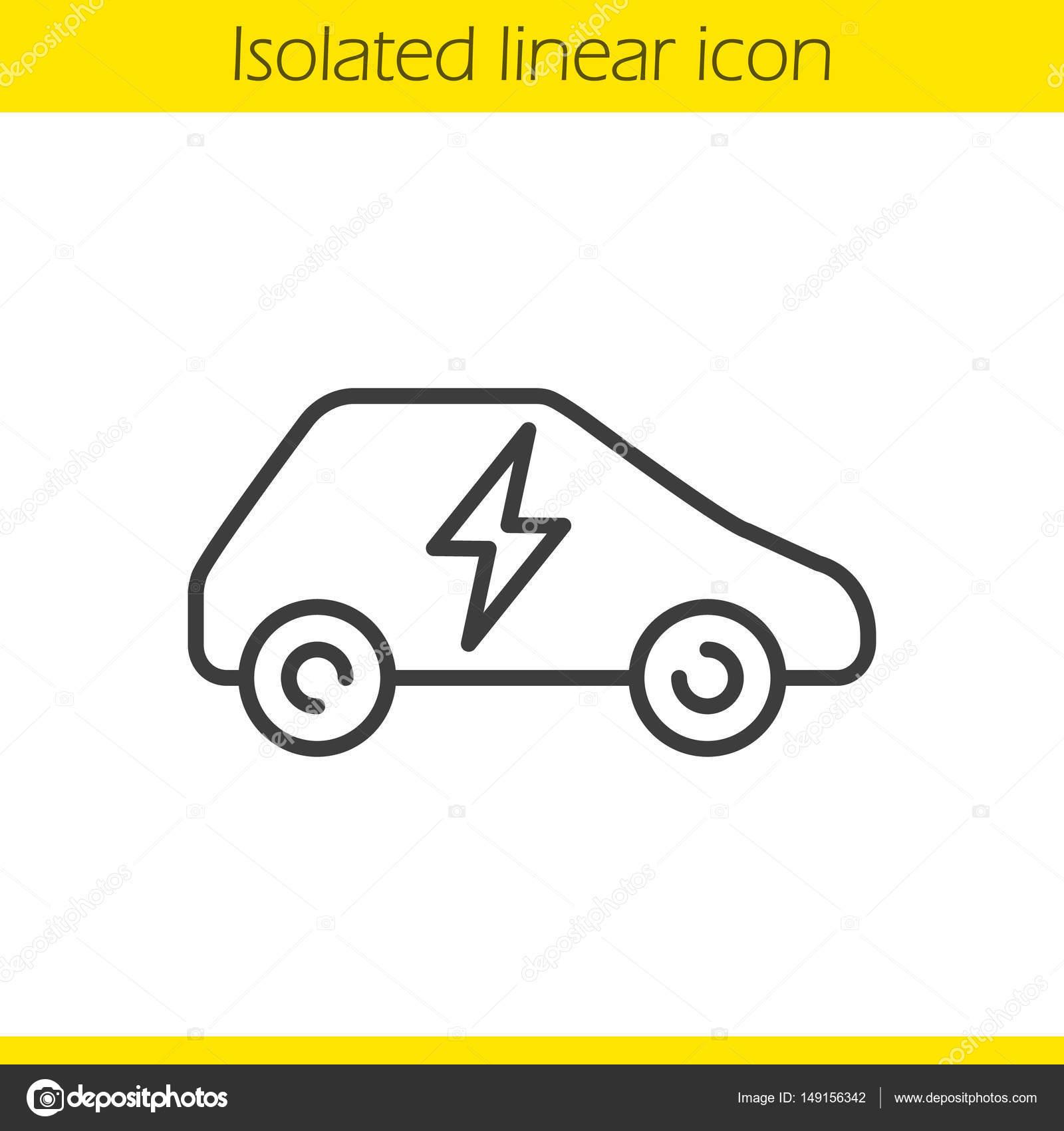 Lineare elektrische Auto-Symbol — Stockvektor © bsd #149156342
