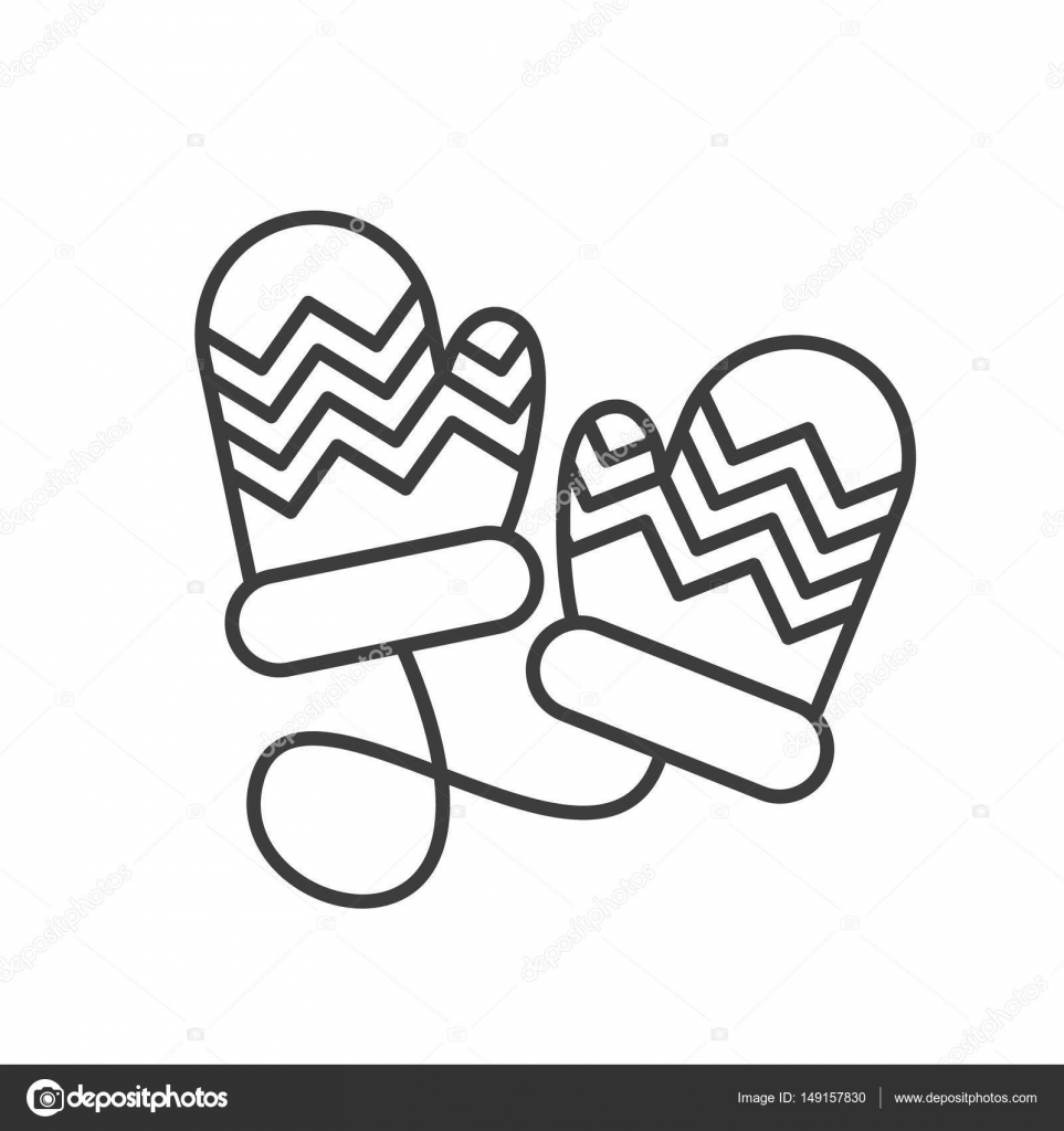 winter wanten lineaire pictogram stockvector 169 bsd