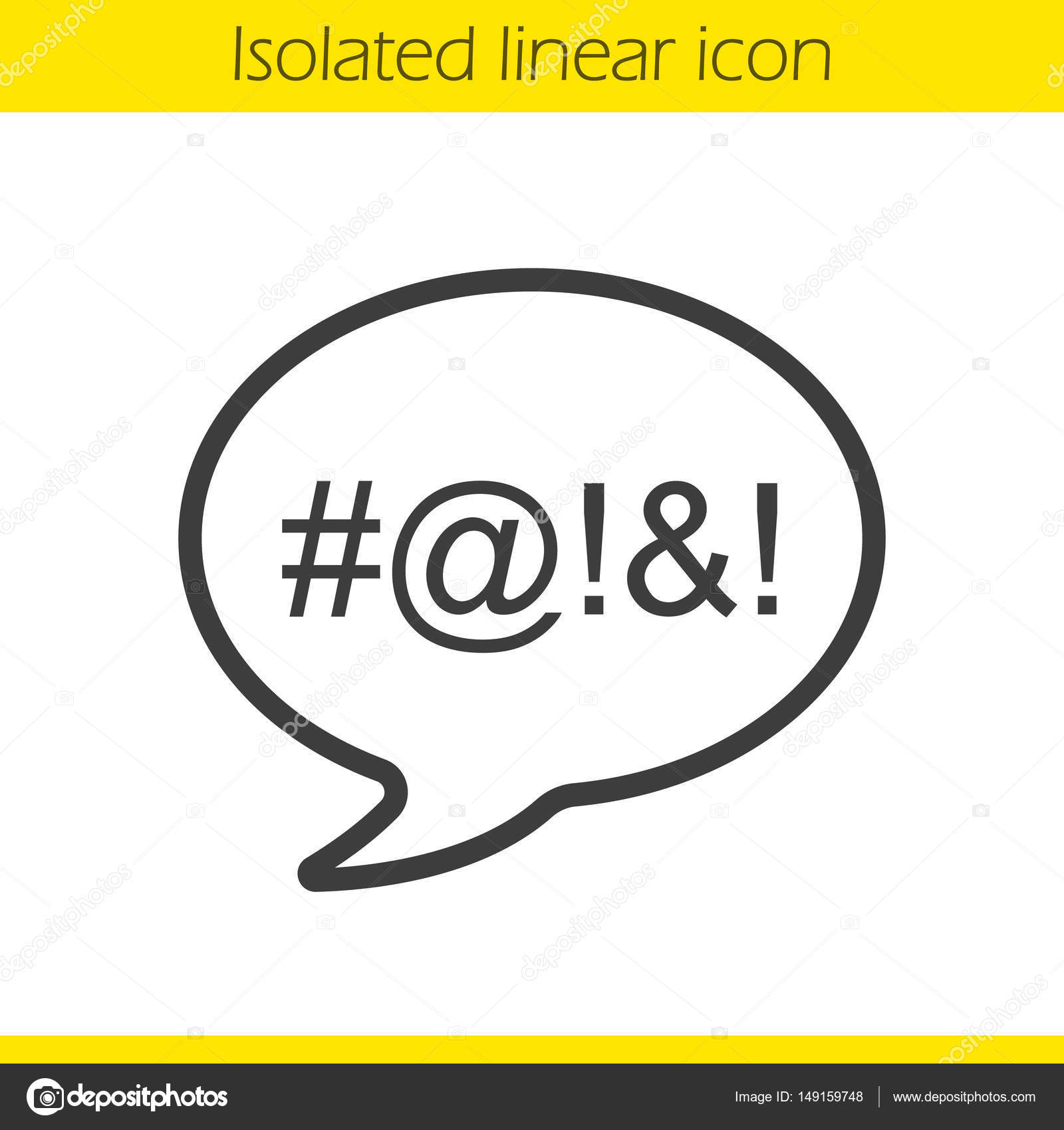 Dirty language linear icon stock vector bsd 149159748 dirty language linear icon cursing thin line illustration chat bubble with censored swearing words contour symbol vector isolated outline drawing biocorpaavc Choice Image