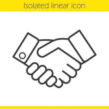 Handshake linear icon
