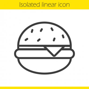 Hamburger linear icon