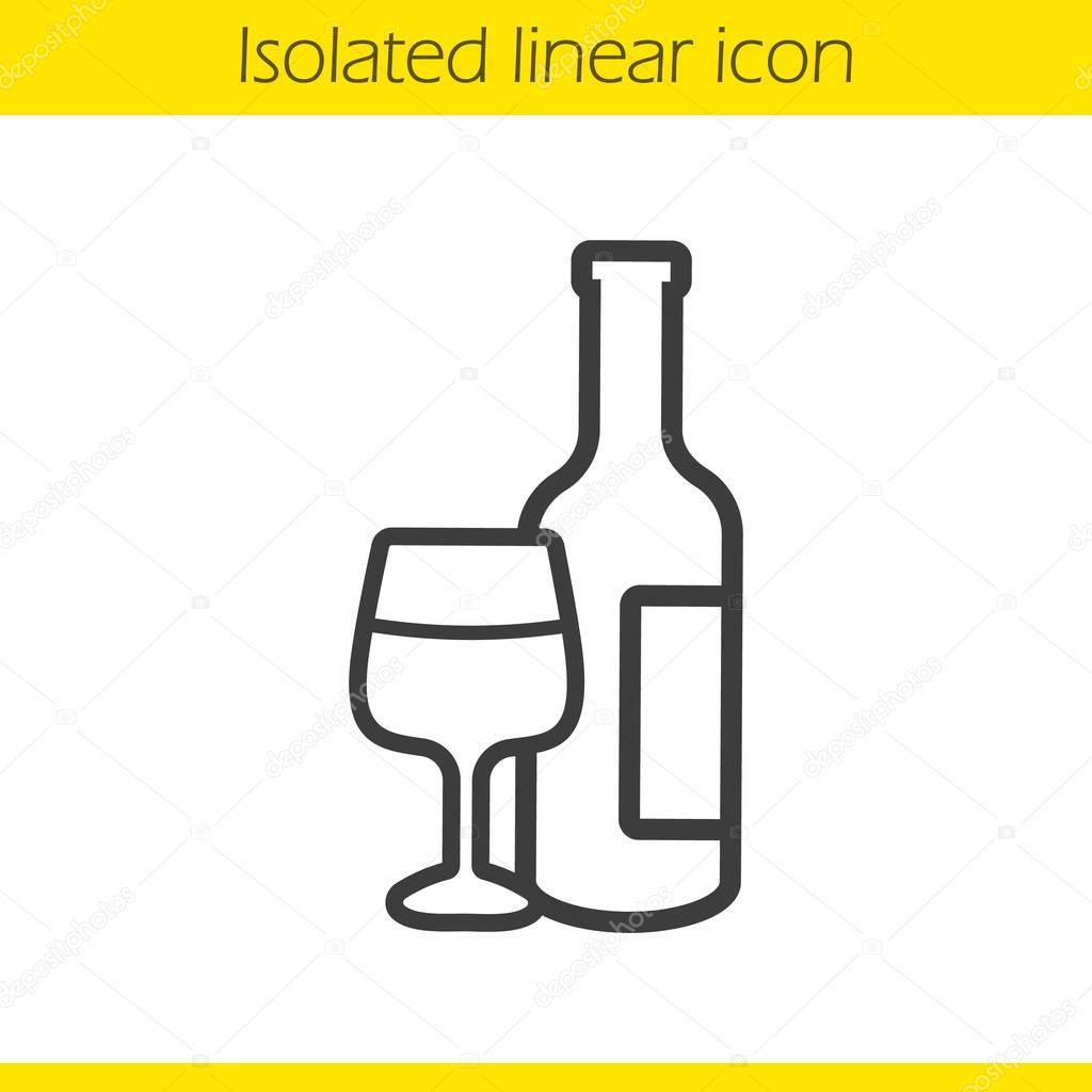 Wine linear icon