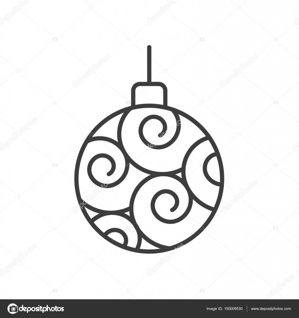 Christmas Tree Ball Icon Stock Vector C Bsd 150009530