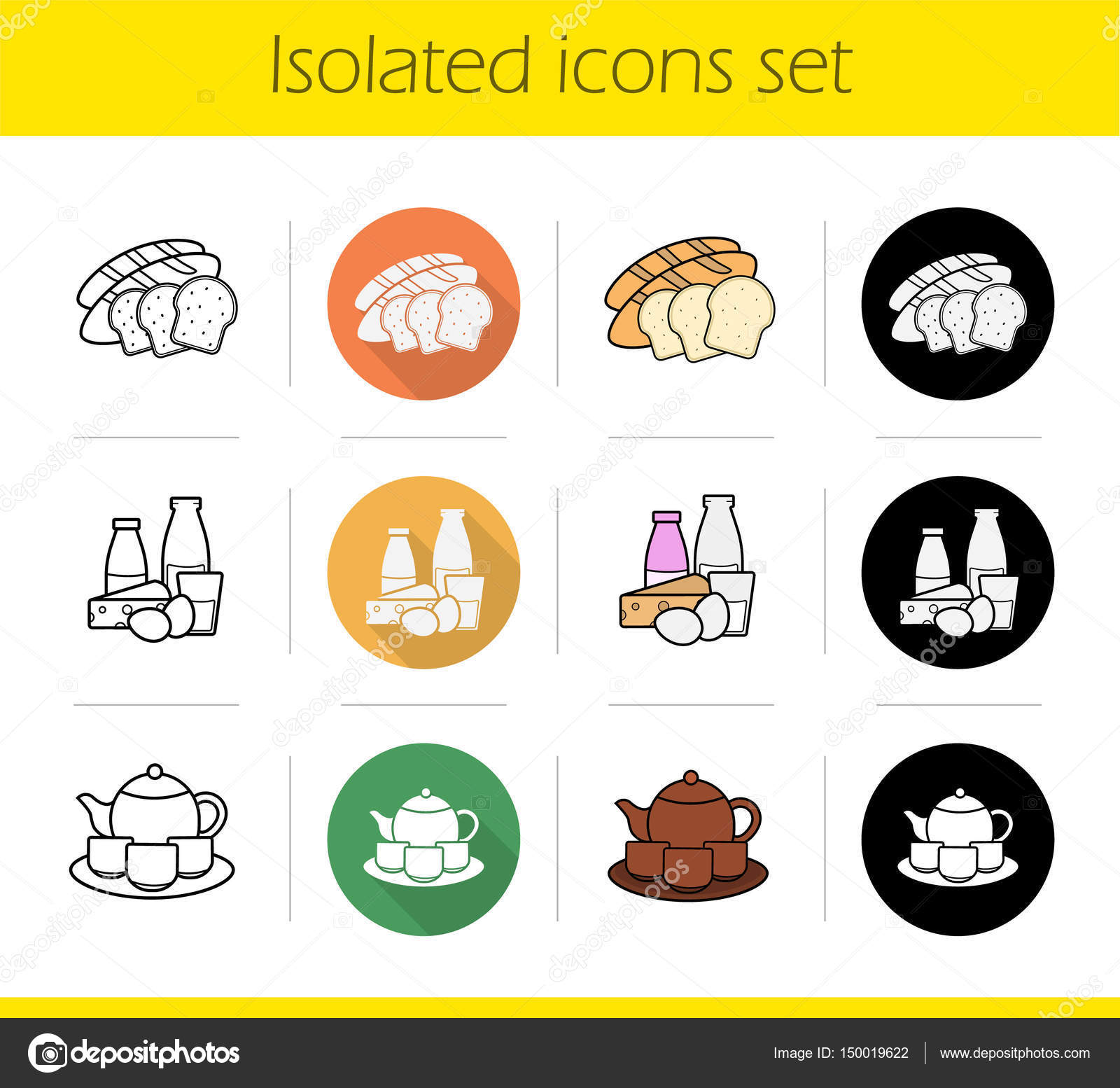 grocery store products categories icons stock vector bsd 150019622