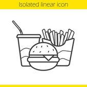 Gyorsétterem lineáris ikon
