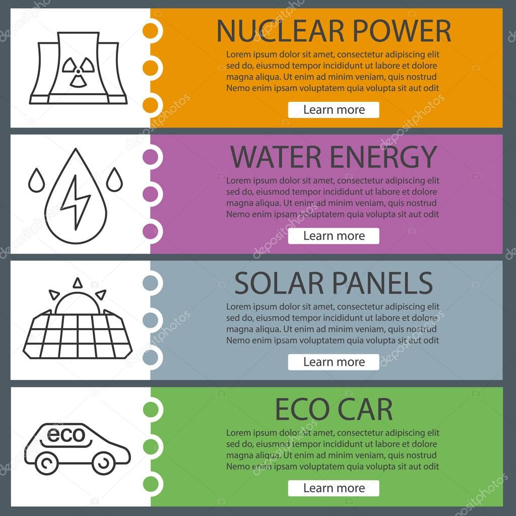 Eco energy banner templates set