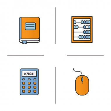 Accounting color icons set