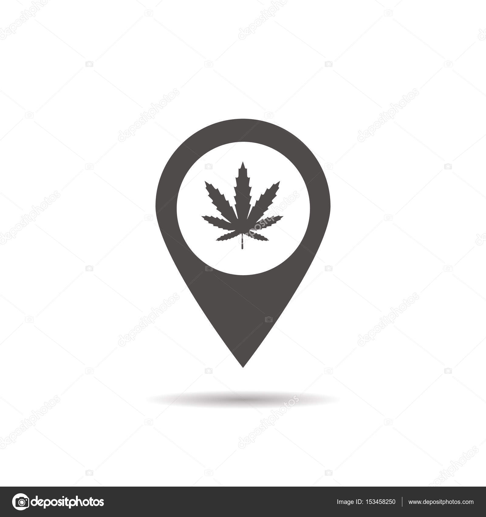 medical marijuana store location icon � stock vector 169 bsd