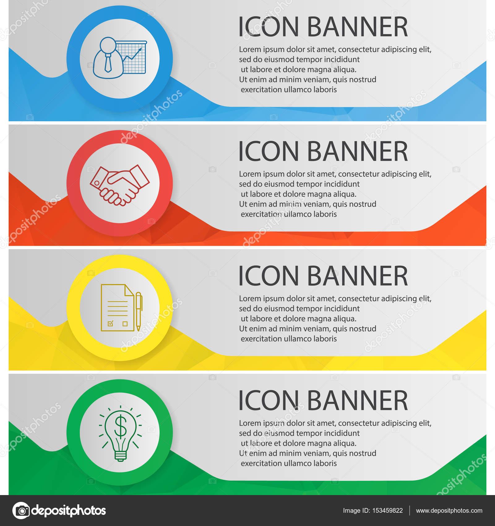 Business-Banner-Vorlagen-set — Stockvektor © bsd #153459822