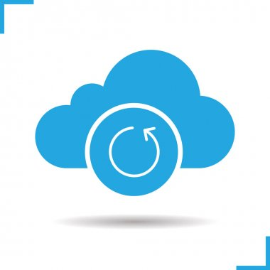 Cloud storage reload icon