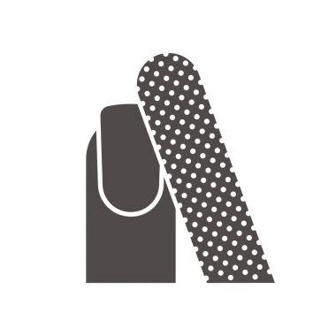 Manicure silhouette symbol
