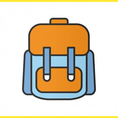 Backpack color icon