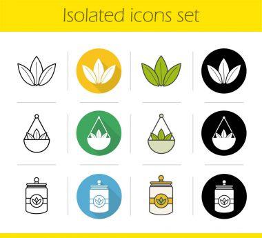 Tea icons set