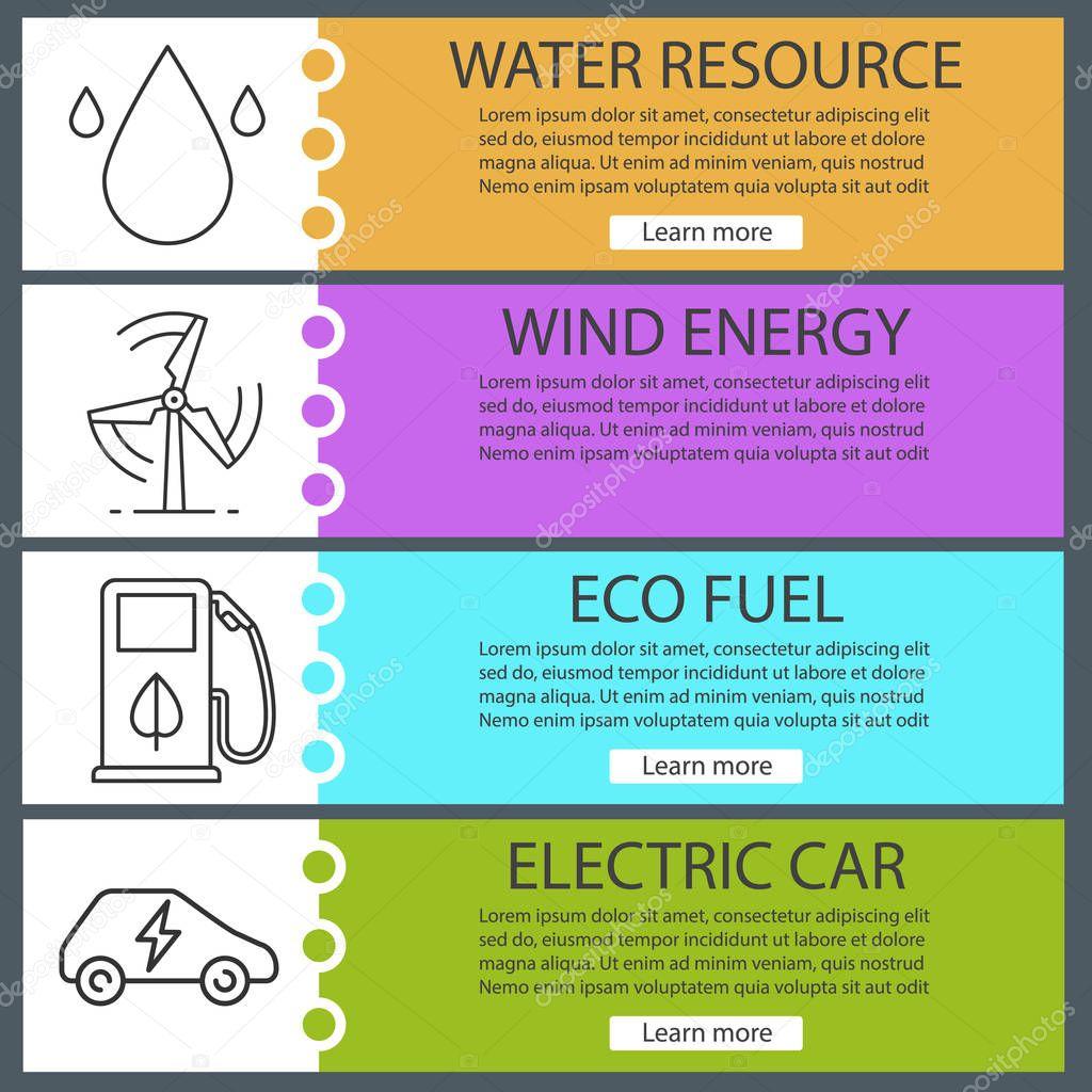 Eco energy banner templates set